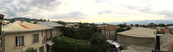 View from Guesthouse balcony, Telavi