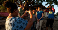 Friendly Sunset-Watchers in Kamping Bunaken